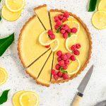Vegan Lemon Tart with gluten free Almond Crust Refined Sugar-Free CROSTATA al LIMONE VEGAN con pasta FROLLA ALLE MANDORLE senza glutine