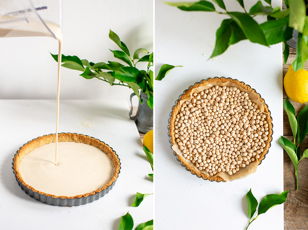 come fare la CROSTATA al LIMONE VEGAN con pasta FROLLA ALLE MANDORLE senza glutine how to make Gluten-Free Vegan Lemon Tart with Almond Crust