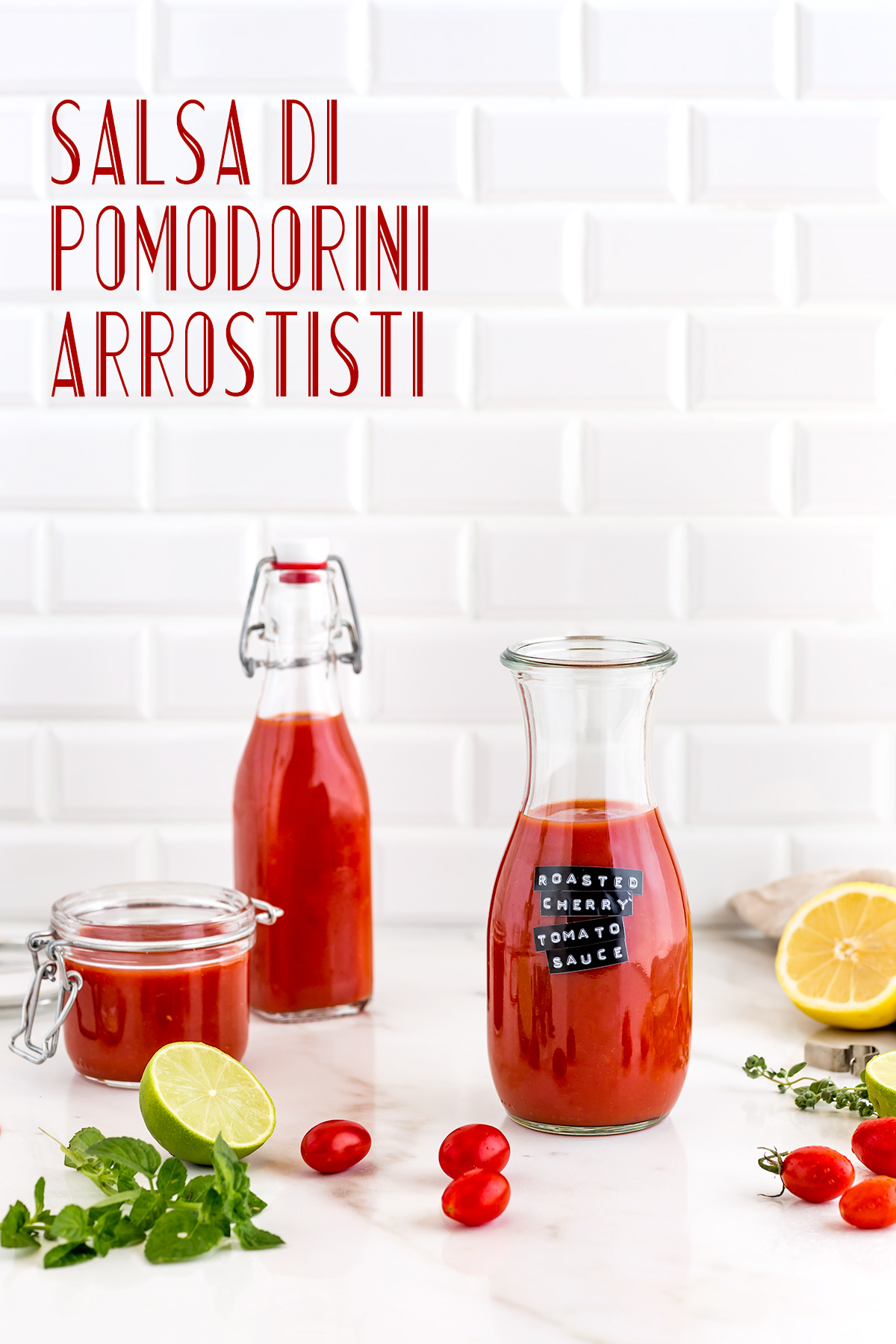 come fare la SALSA di POMODORINI ARROSTITI ricetta passata di pomodori confit how to make ROASTED CHERRY TOMATO SAUCE vegan tomato suop recipe