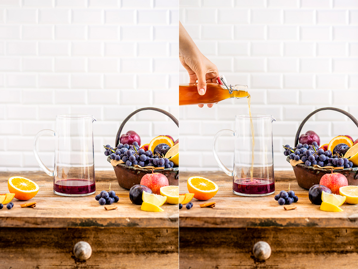 come fare la SANGRIA ANALCOLICA al KOMBUCHA facile simple non alcoholic KOMBUCHA SANGRIA vegan recipe