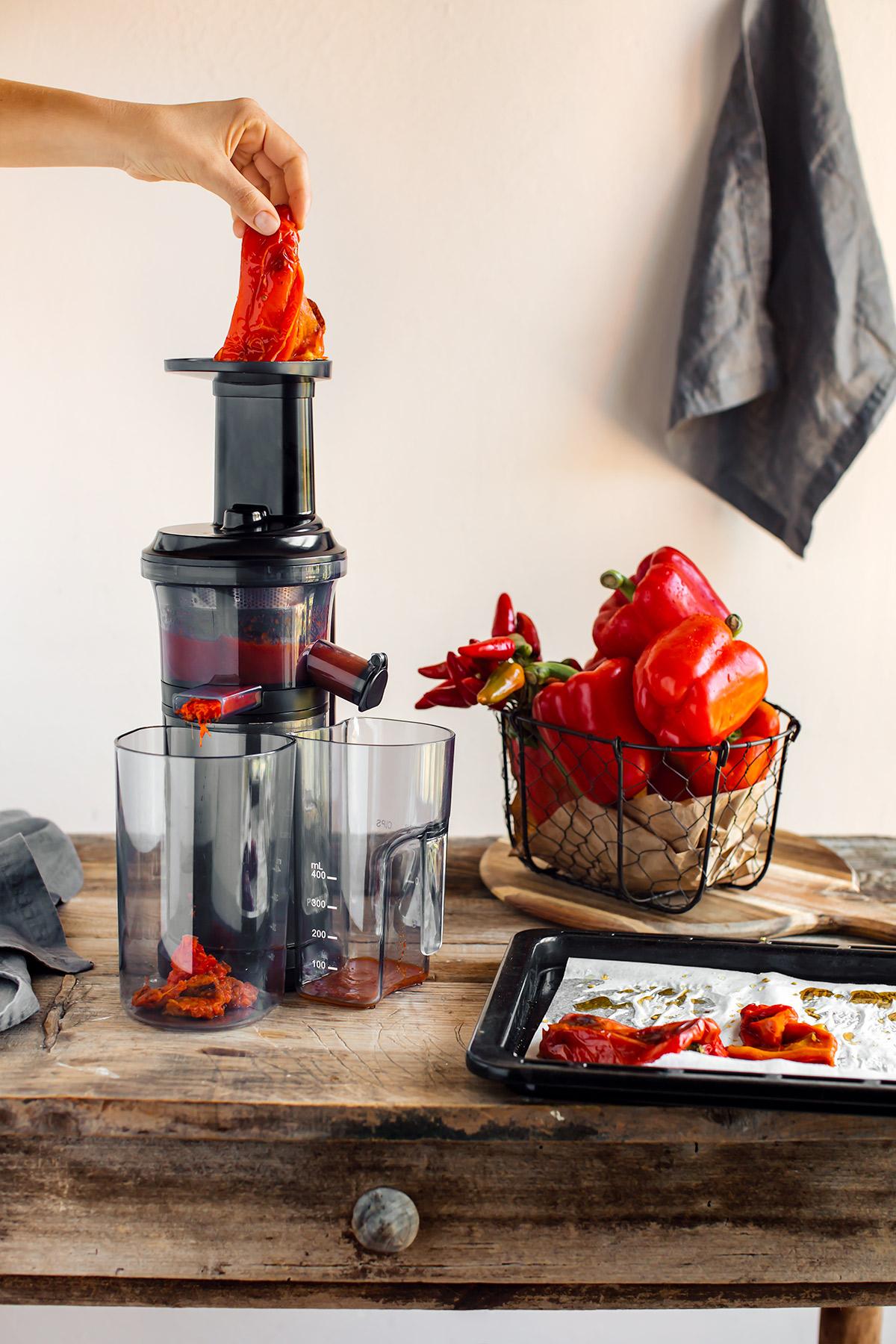 come preparare la pasta conSALSA ai PEPERONI arrostiti creamy vegan ROASTED RED PEPPER PASTA SAUCE