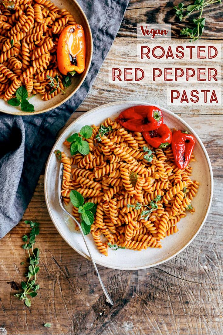 creamy vegan ROASTED RED PEPPER PASTA SAUCE recipe glutenfree come preprare la pasta conSALSA ai PEPERONI arrostiti