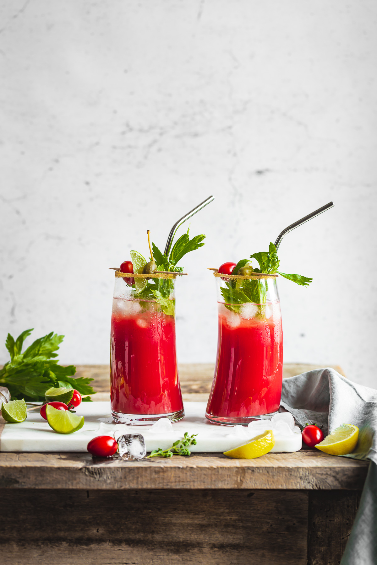 healthy Vegan Water Kefir Virgin Mary recipe #cocktail ricetta Bloody Mary Analcolico al Kefir d acqua per brunch e festa sano rinfrescante succo di pomodoro #healthy cocktail