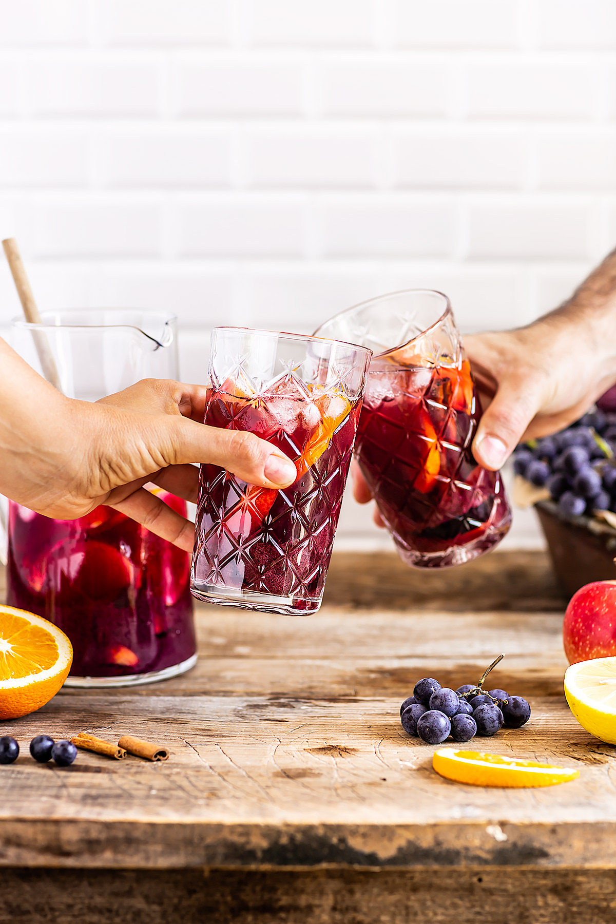 healthy simple non alcoholic KOMBUCHA SANGRIA vegan recipe ricetta SANGRIA analcolica al KOMBUCHA facile light