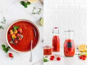 how to make ROASTED CHERRY TOMATO SAUCE #vegan tomato suop recipe come fare la SALSA di POMODORINI ARROSTITI passata di pomodori confit