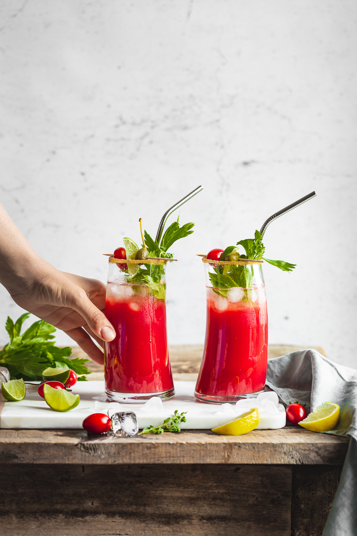 ricetta Bloody Mary Analcolico al Kefir d acqua per brunch aperitivi #healthy cocktail vegan senza glutine Water Kefir Virgin Mary recipe Mocktail