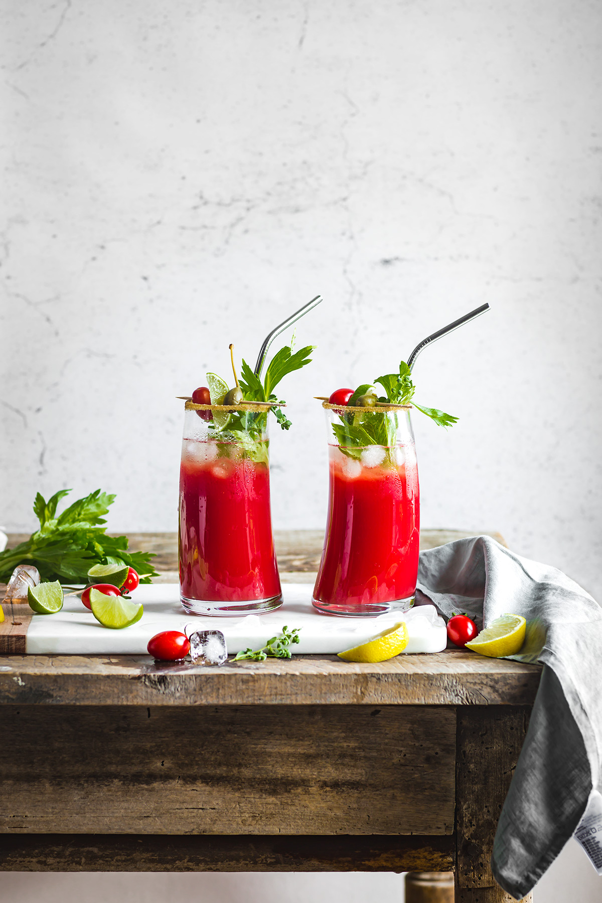 ricetta Bloody Mary Analcolico al Kefir d acqua per brunch #healthy cocktail vegan senza glutine Vegan Water Kefir Virgin Mary recipe #cocktail