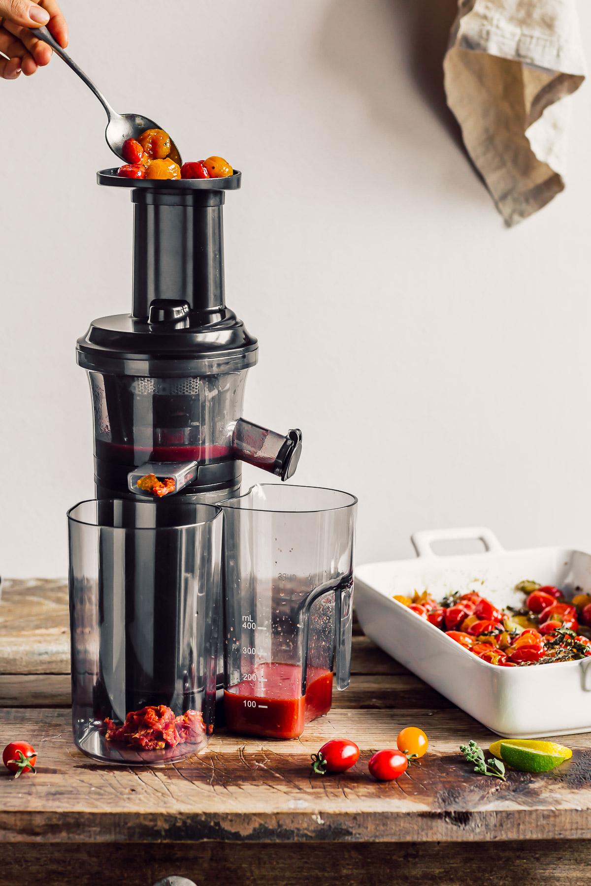 ricetta SALSA di POMODORINI ARROSTITI zuppa di pomodorini confit ROASTED CHERRY TOMATO SAUCE #vegan tomato suop recipe