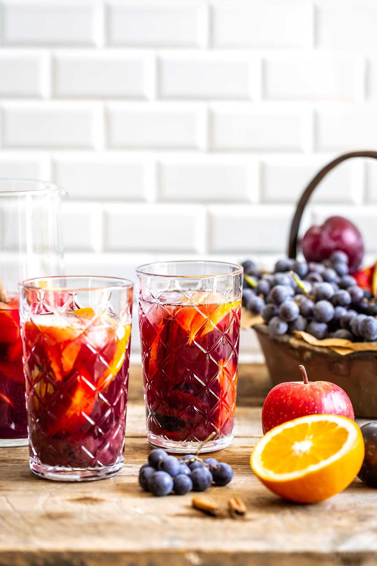 ricetta SANGRIA analcolica al KOMBUCHA facile Simple non alcoholic kombucha SANGRIA recipe #vegan