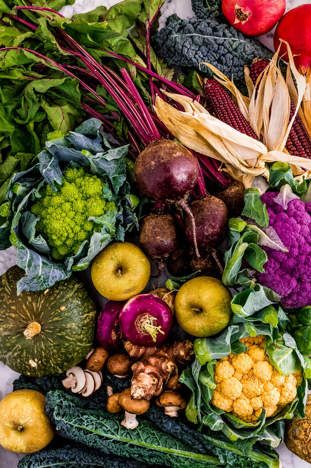 FALL HARVEST VEGETABLES beetroot apples pumpkin photography verdure autunnali al vapore zucca barbabietola mele