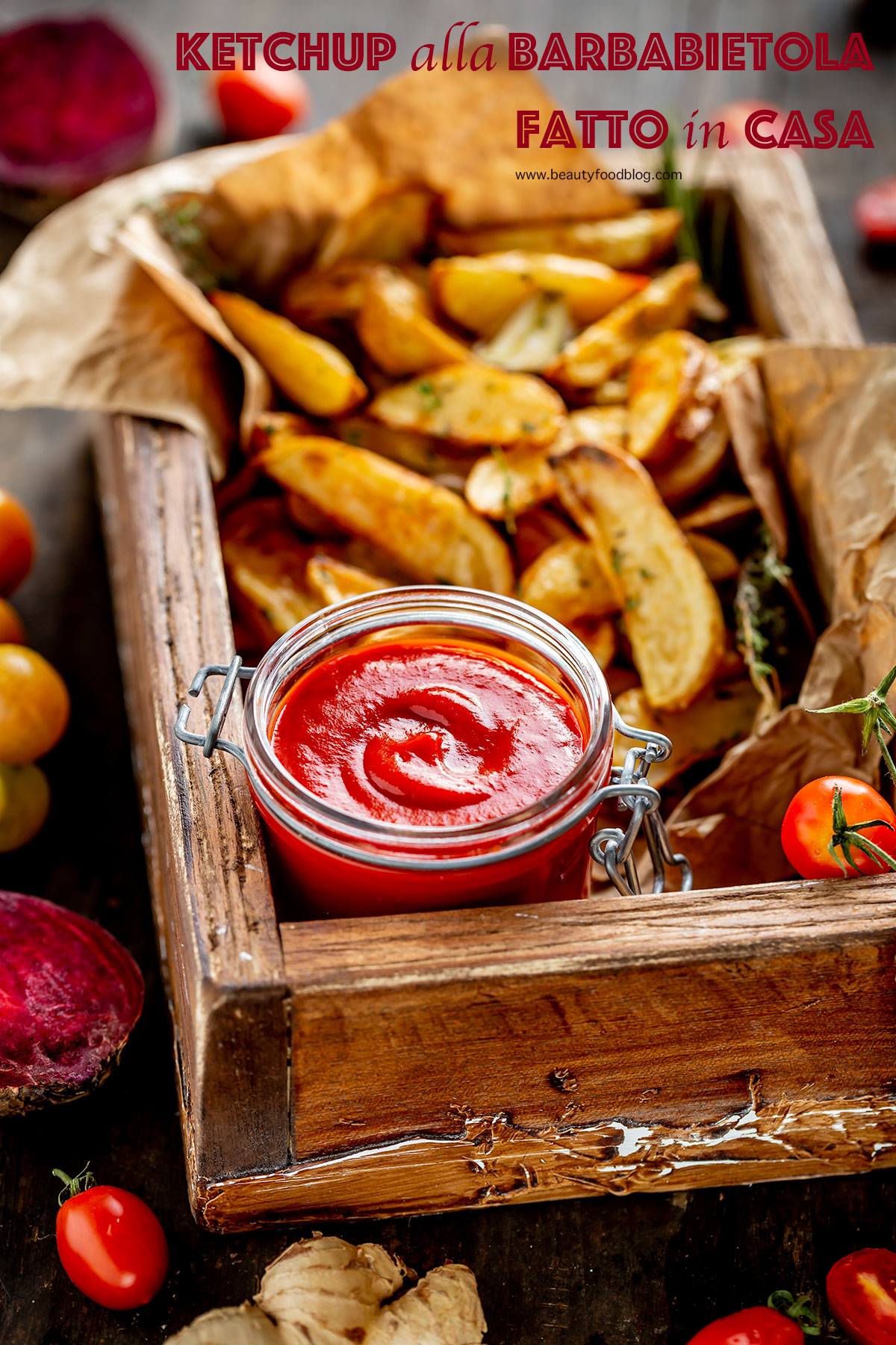 ricetta KETCHUP fatto in casa alla BARBABIETOLA Vegan senza glutine senza zucchero raffinato VEGAN homemade tomato BEET ketchup recipe refined sugar free #healthy beautyfoodblog