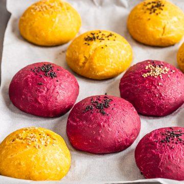 How to make healthy homemade VEGAN BURGER BUNS recipe come preparare i PANINI VEGANI per BURGER al FARRO fatti in casa ricetta passo passo