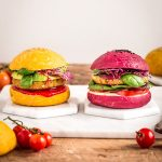 ricetta PANINI VEGANI per BURGER al FARRO fatti in casa colorati con barbabietola e carota senza burro Homemade COLORED VEGAN BURGER BUNS recipe