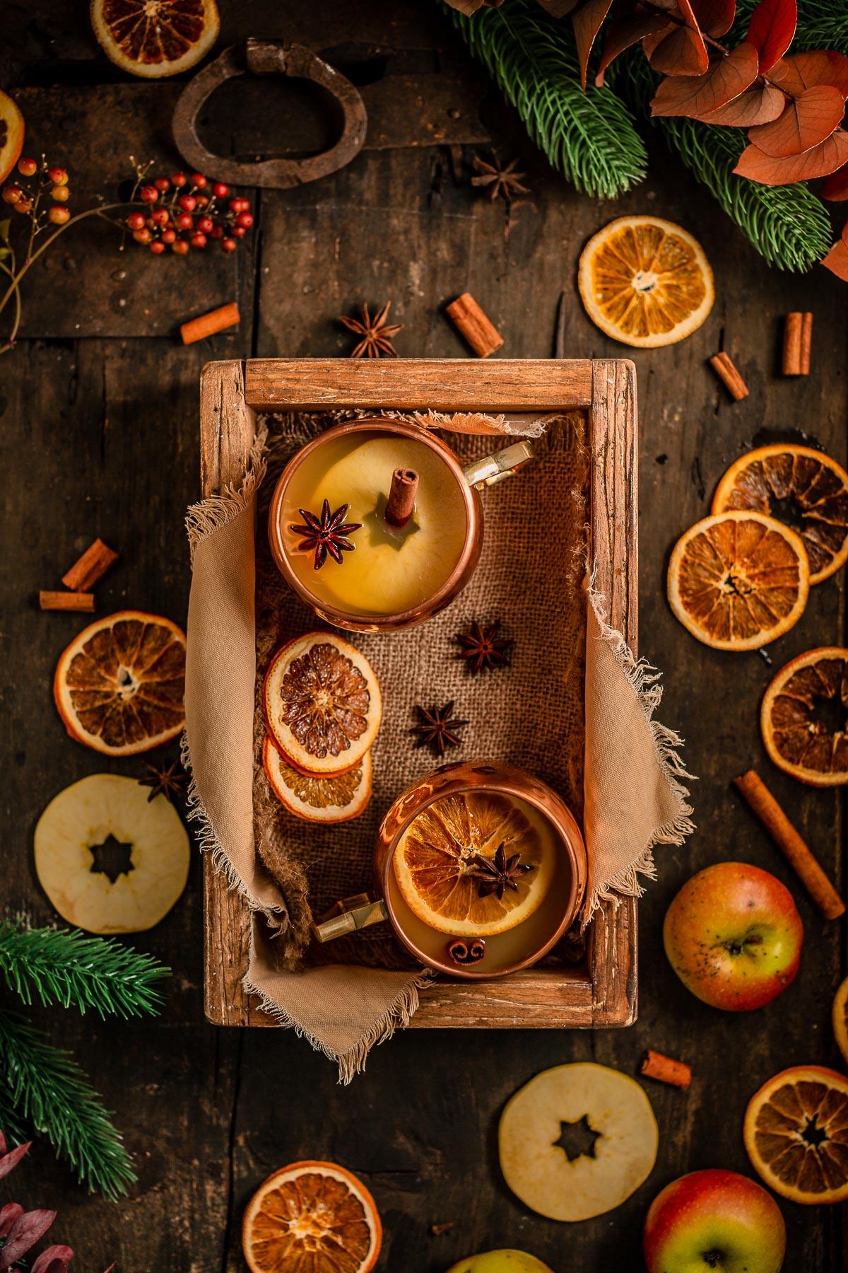 Christmas sugar-free APPLE MULLED WINE recipe ricetta BRULÈ di mele fatto in casa analcolico senza zucchero Mercatini di Natale Apfelglühwein #vegan non alcoholic