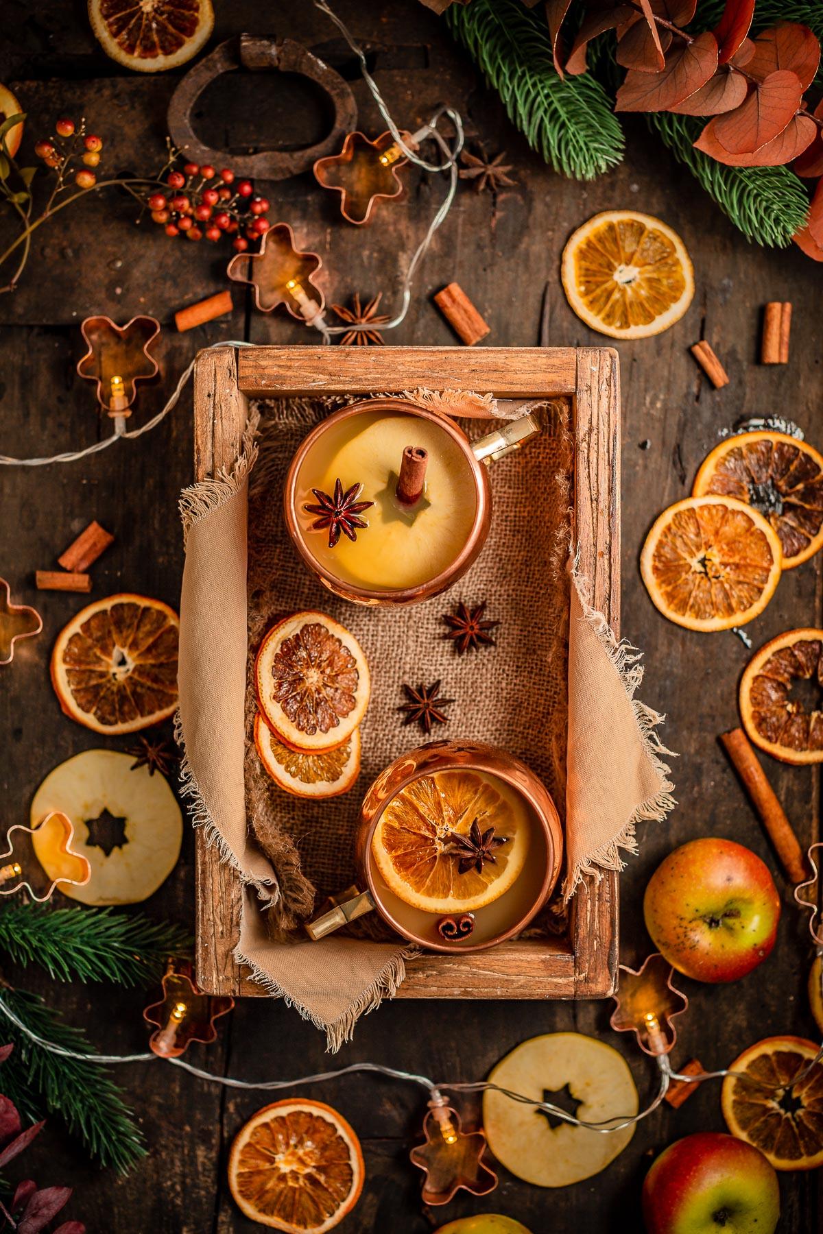 Christmas sugar-free APPLE MULLED WINE recipe ricetta Brulè di mele fatto in casa senza zucchero come ai Mercatini di Natale Apfelglühwein #vegan non alcoholic