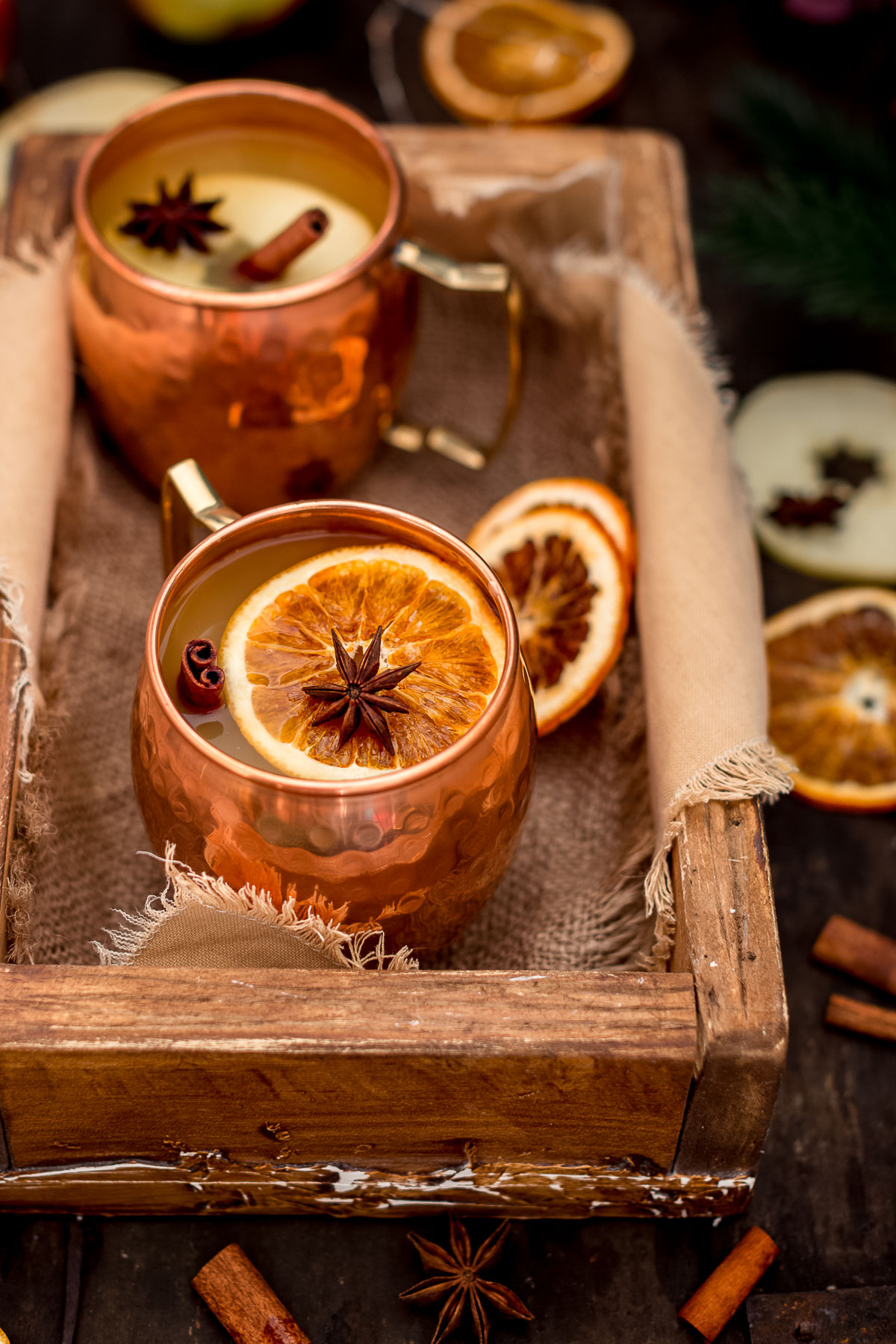 Healthy APPLE MULLED WINE recipe Ricetta VIN BRULE di MELE fatto in casa analcolico Apfelglühwein for Christmas