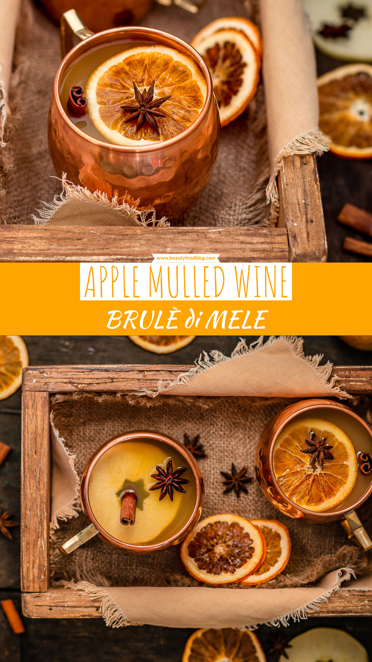 Healthy sugar-free APPLE MULLED WINE recipe Ricetta BRULÈ di MELE fatto in casa analcolico senza zucchero Apfelglühwein #Christmas #apple #Natale #mulledwine