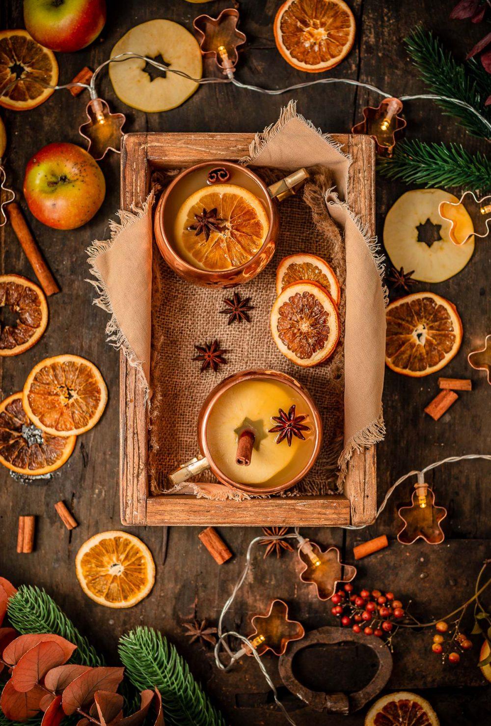 Healthy sugar-free APPLE MULLED WINE recipe ricetta Brulè di mele fatto in casa senza zucchero come ai Mercatini di Natale Apfelglühwein #vegan #Christmas