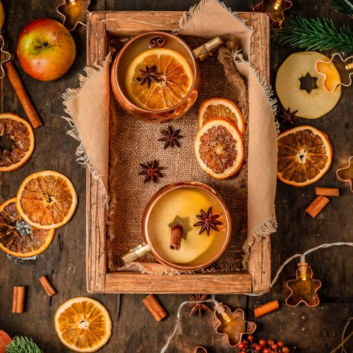 Healthy sugar-free APPLE MULLED WINE recipe ricetta Brulè di mele fatto in casa senza zucchero come ai Mercatini di Natale Apfelglühwein #vegan #Christmas