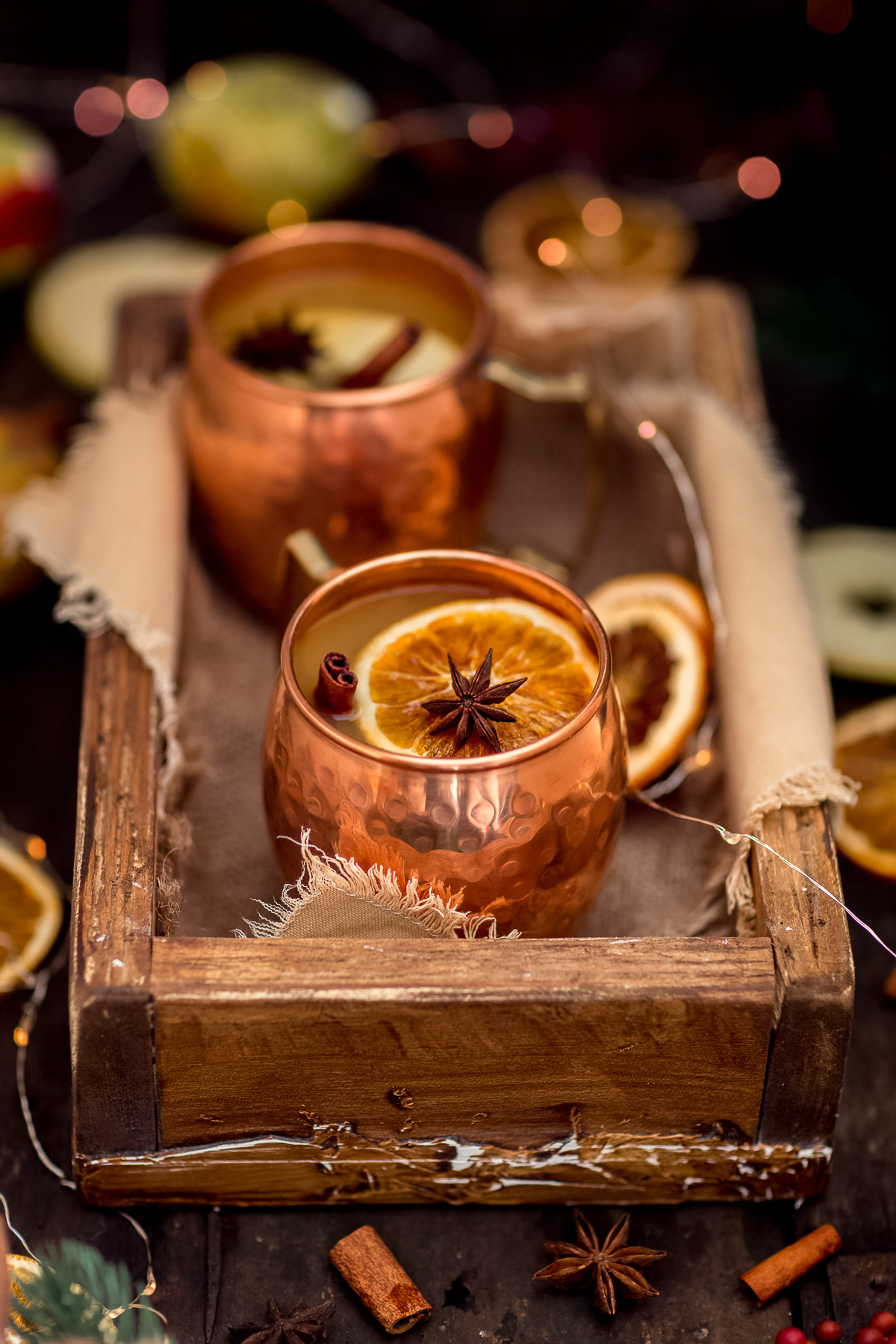 Healthy sugar-free APPLE MULLED WINE recipe #vegan ricetta Brulè di mele fatto in casa senza zucchero Apfelglühwein for Christmas