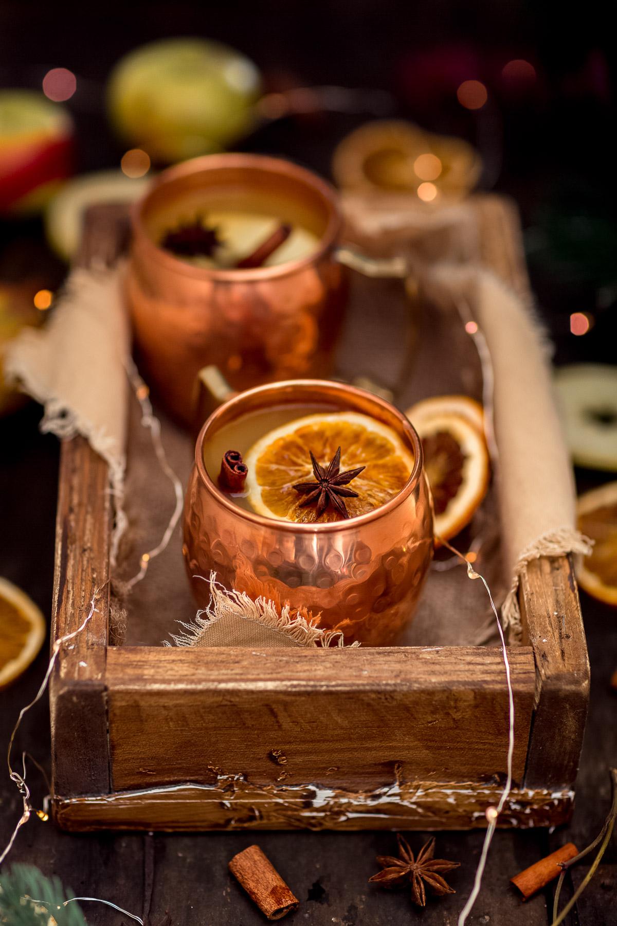 Healthy sugar-free APPLE MULLED WINE recipe #vegan ricetta Brulè di mele fatto in casa senza zucchero come ai Mercatini di Natale Apfelglühwein