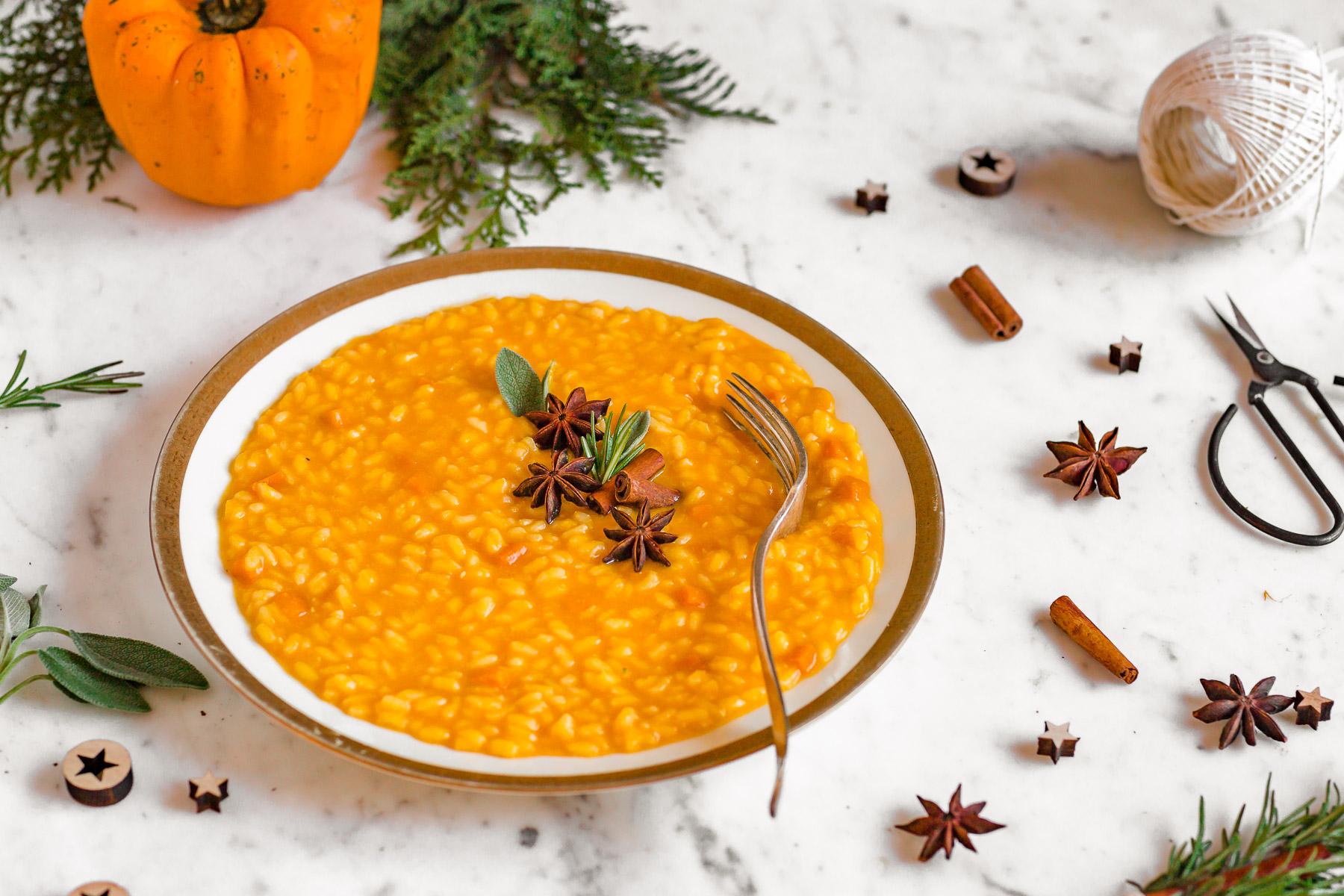 Italian Creamy VEGAN PUMPKIN RISOTTO Recipe gluten-free Ricetta RISOTTO alla ZUCCA VEGAN senza glutine senza burro cremoso light sano #vegan #risotto #pumpkin