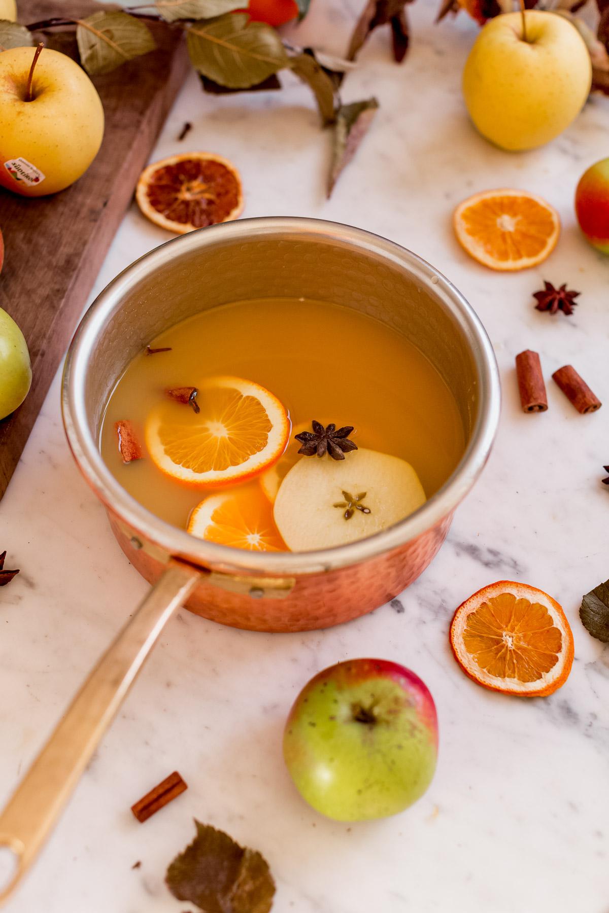 Ricetta Brulè di mele fatto in casa analcolico senza zucchero Apfelglühwein Apple mulled wine recipe
