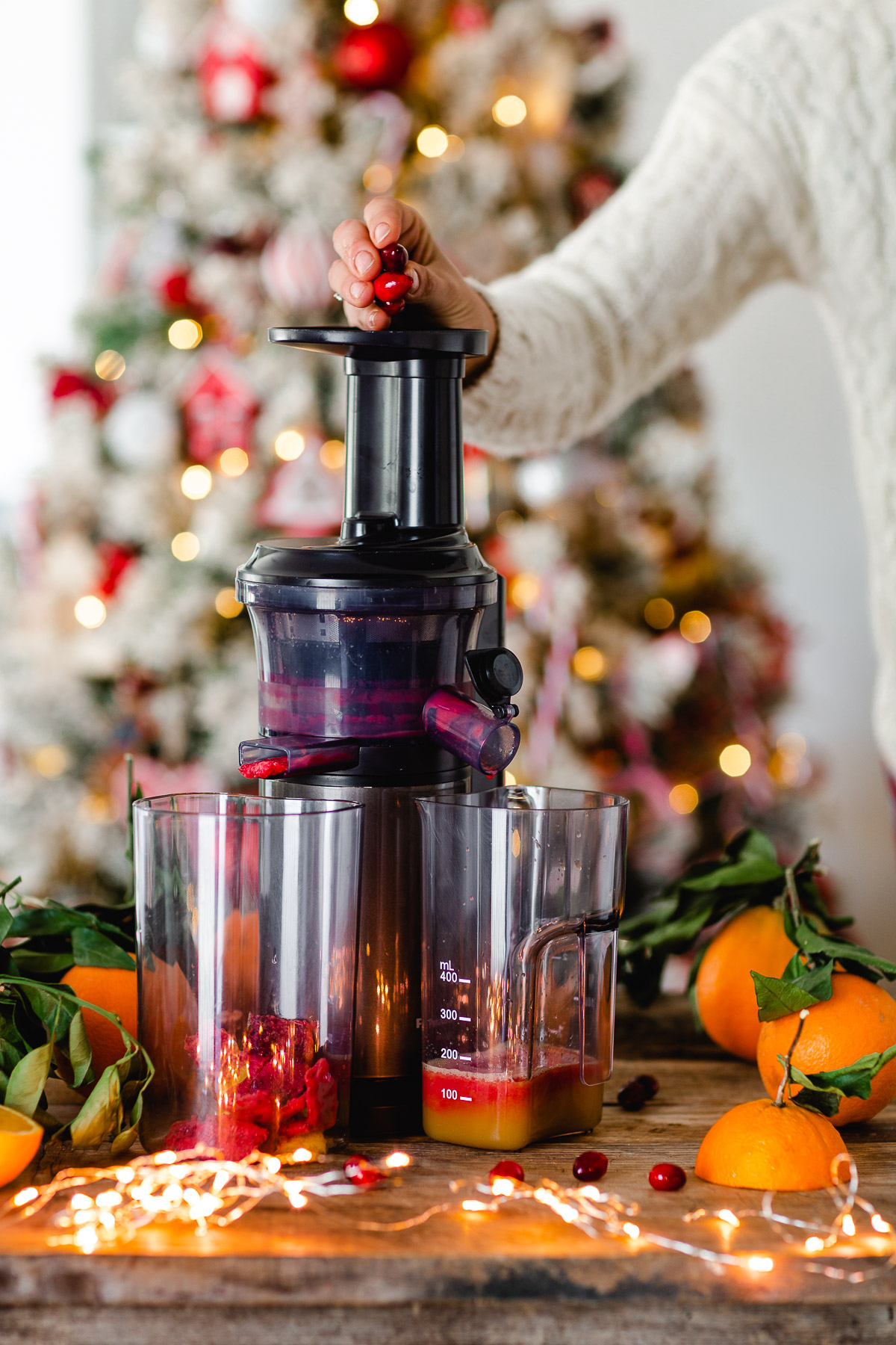 Ricetta SPRITZ di NATALE con succo di arance e cranberry mirtilli rossi How to make Winter Holiday Christmas Spritzer recipe with cranberry juice