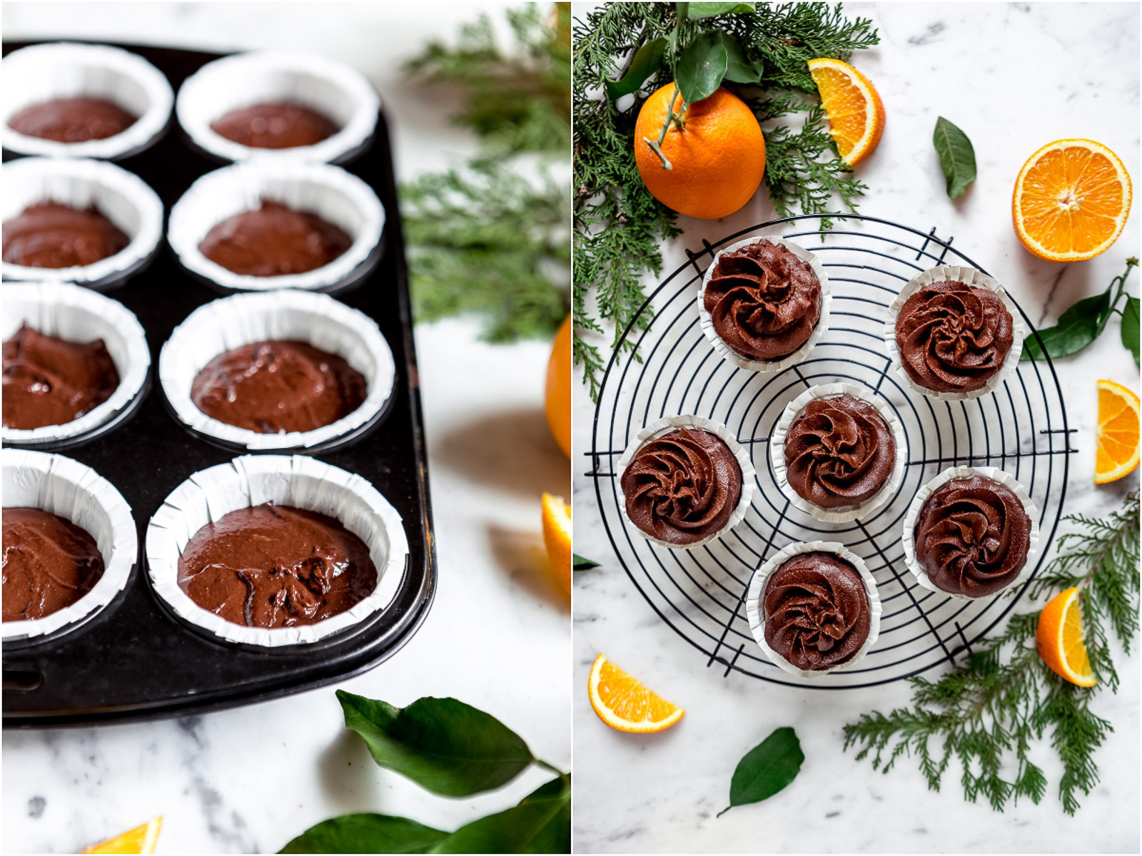 Vegan CHOCOLATE PUMPKIN CUPCAKES with orange DATE CHOCOLATE Frosting CUPCAKES VEGAN al CIOCCOLATO ARANCIA e ZUCCA con mousse al cioccolato datteri e zucca