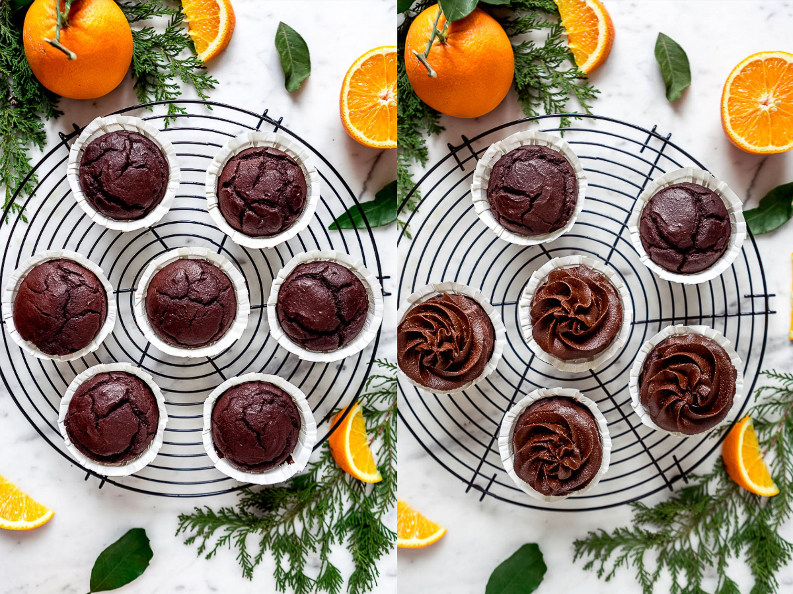 healthy vegan CHOCOLATE PUMPKIN CUPCAKES with orange and DATE CHOCOLATE Frosting CUPCAKES VEGAN al CIOCCOLATO ARANCIA e ZUCCA con mousse al cioccolato datteri e zucca senza zucchero