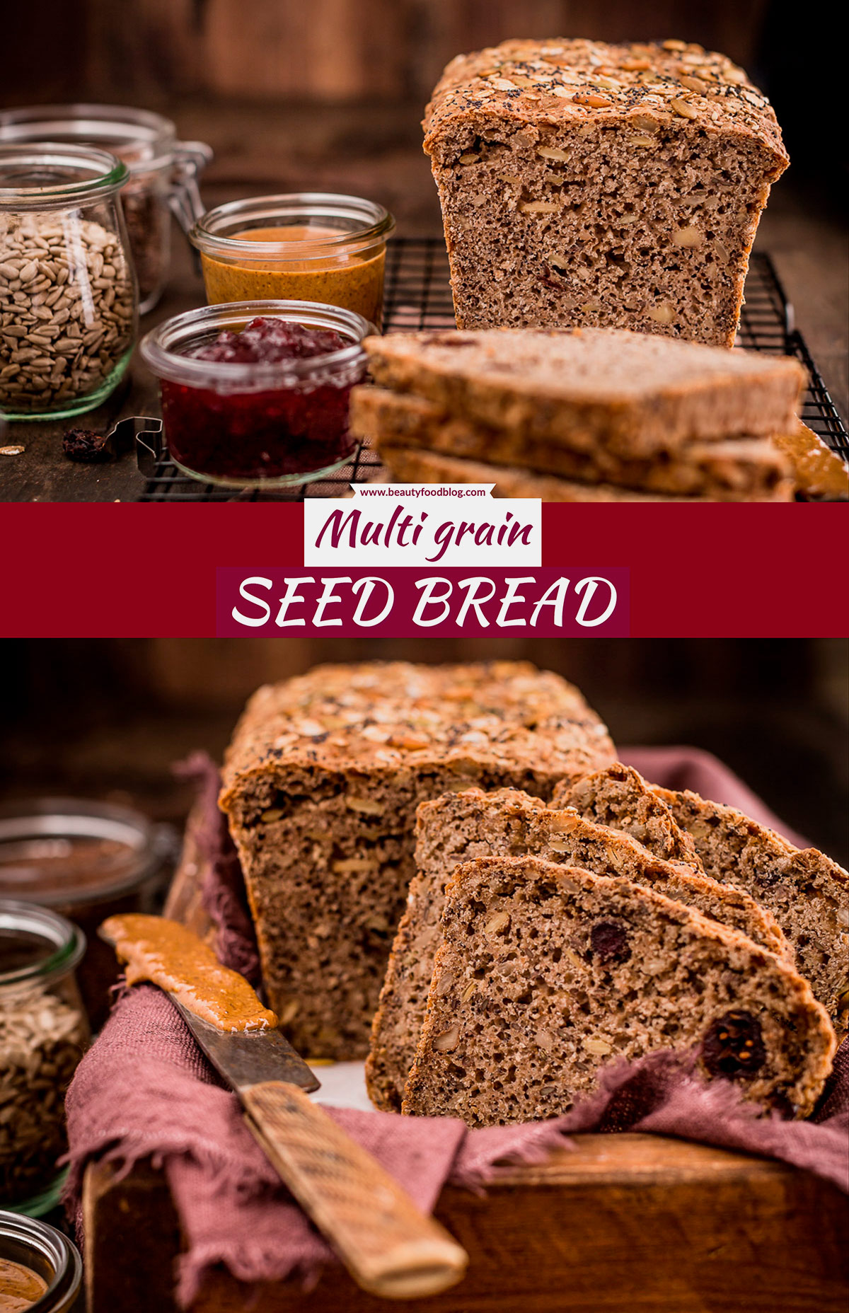 HEALTHY #breakfast multi cereal whole grain SEED BREAD with oats spelt buckwheat PANE INTEGRALE ai CEREALI e semi con avena farro grano saraceno PANE da #COLAZIONE