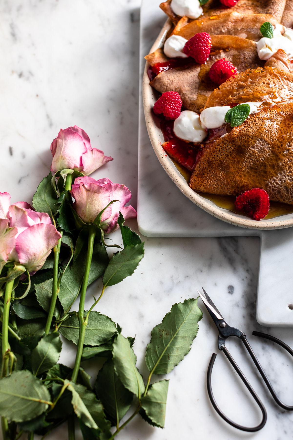 Ricetta CREPES di FARINA di CASTAGNE VEGAN senza glutine Vegan Gluten-free Chestnut Crepes #vegan #photography #crepes