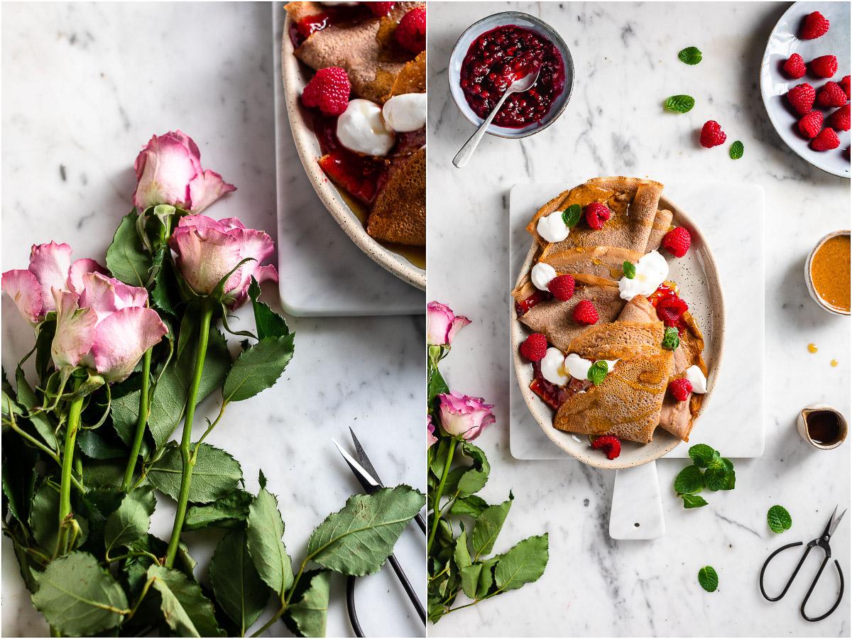 Ricetta CREPES di FARINA di CASTAGNE VEGAN senza glutine come sciare con Helvetia Gluten-free Chestnut Crepes vegan #healthy #crepes #chestnut #breakfast