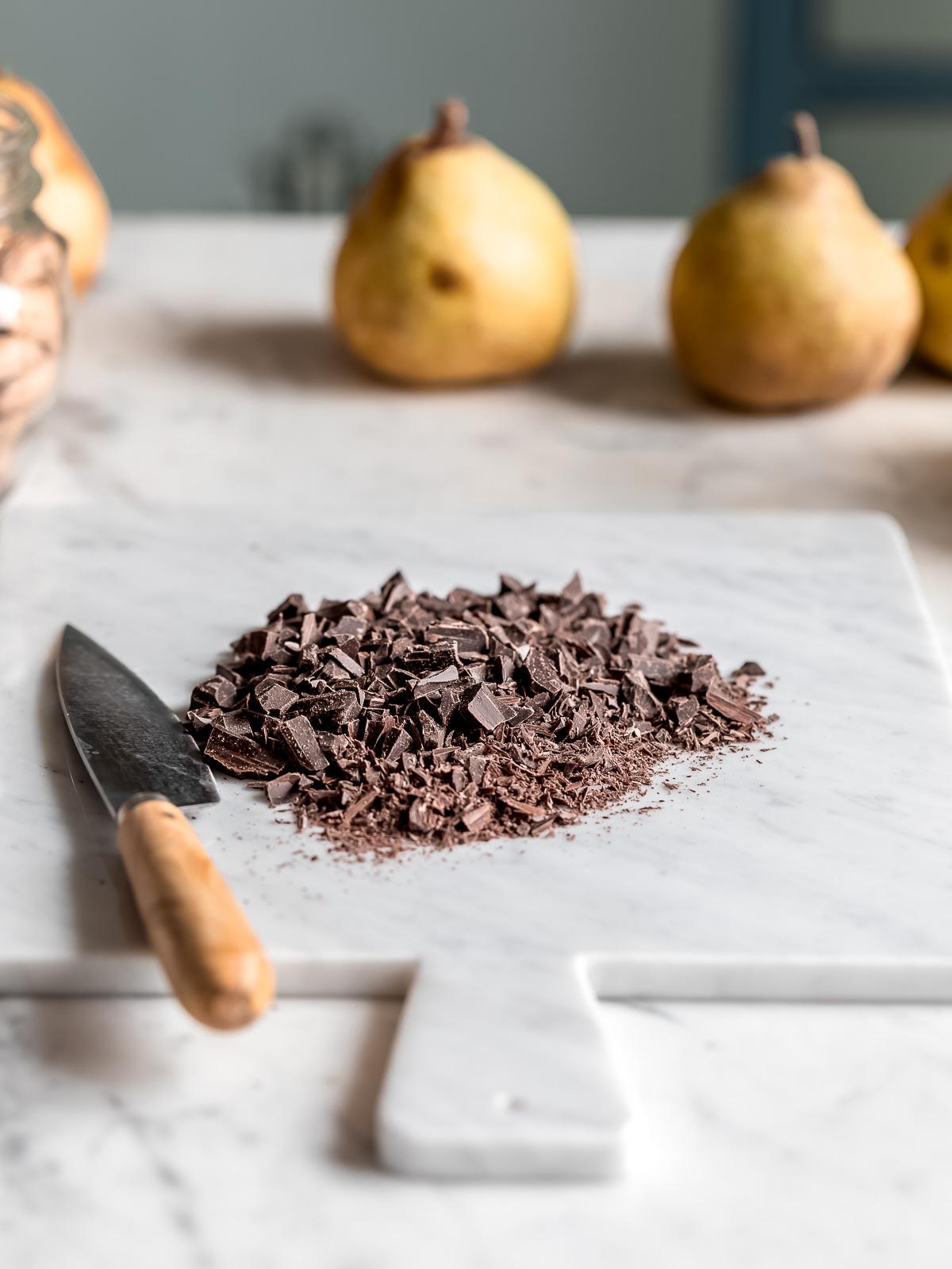 Ricetta Galette al cioccolato e pere vegan senza glutine gluten free Vegan Chocolate Pear Galette recipe #chocolate #pear