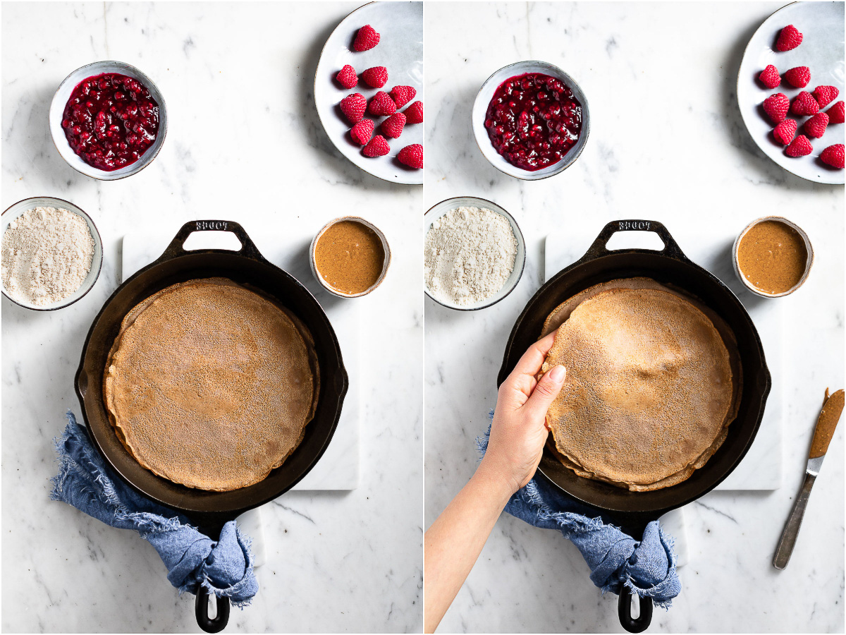 come fare le CREPES di FARINA di CASTAGNE VEGAN ricetta senza glutine come sciare con Helvetia Gluten-free Chestnut Crepes vegan #healthy #crepes #chestnut