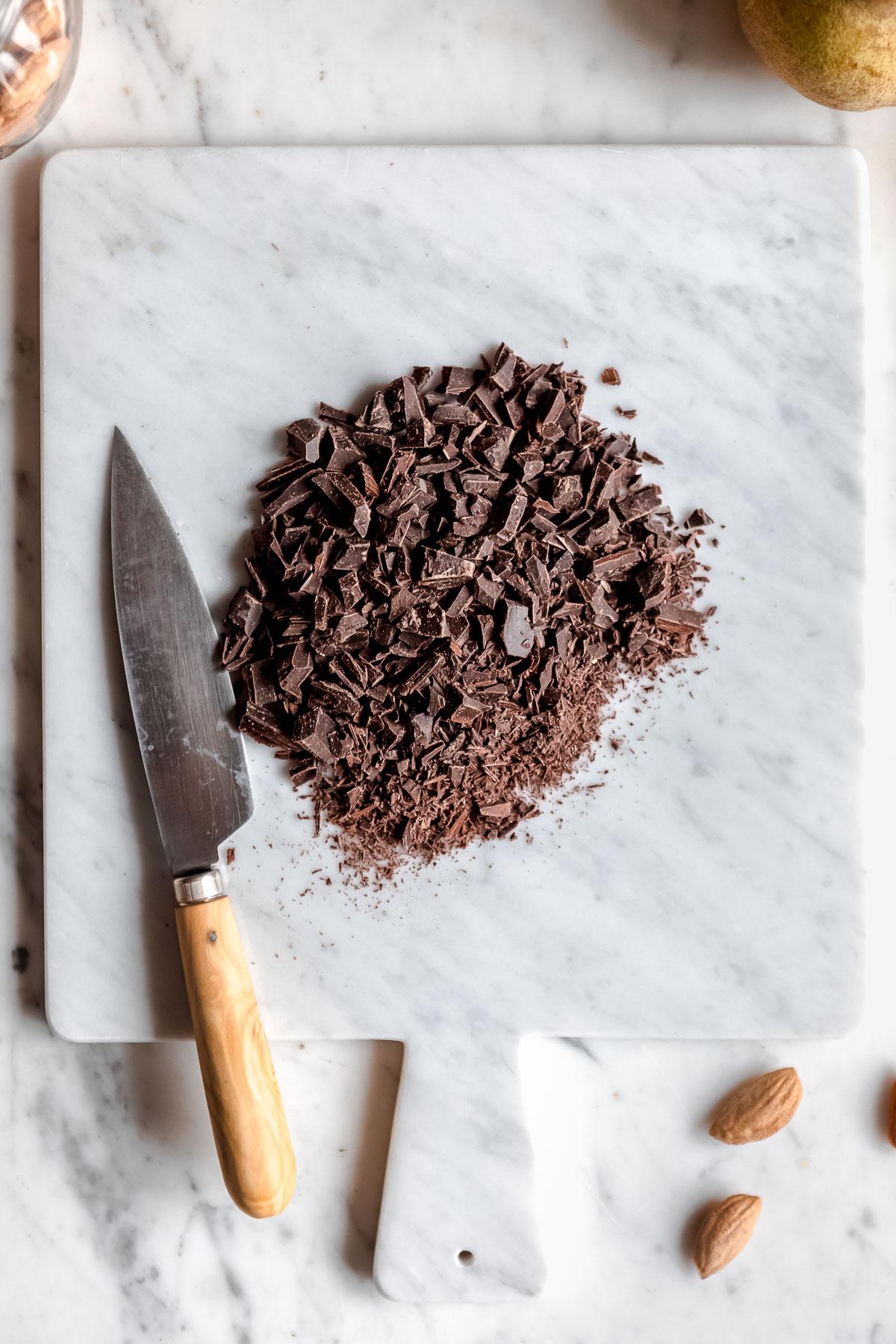 gluten-free Vegan Chocolate Pear Galette recipe Ricetta Galette al cioccolato e pere vegan senza glutine #chocolate #pear