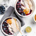 Come fare il porridge di avena in chicchi senza glutine vegan perfetto how to make creamy blueberry steel cut oats recipe #oatmeal #porridge