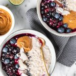 how to make the perfect blueberry steel cut oats recipe #oatmeal #porridge come fare il porridge di avena in chicchi perfetto