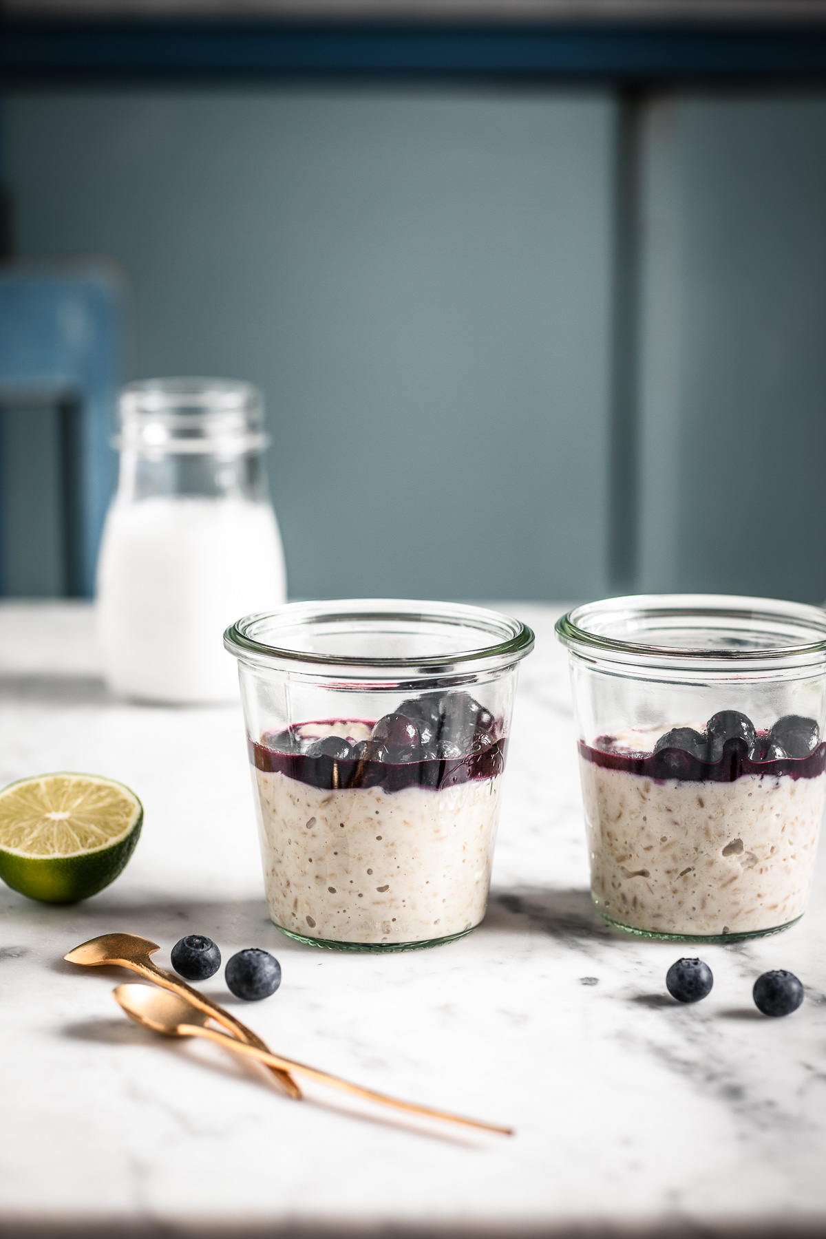 how to make the perfect creamy vegan gluten free blueberry steel cut oats recipe come fare il porridge di avena in chicchi perfetto #oatmeal #porridge