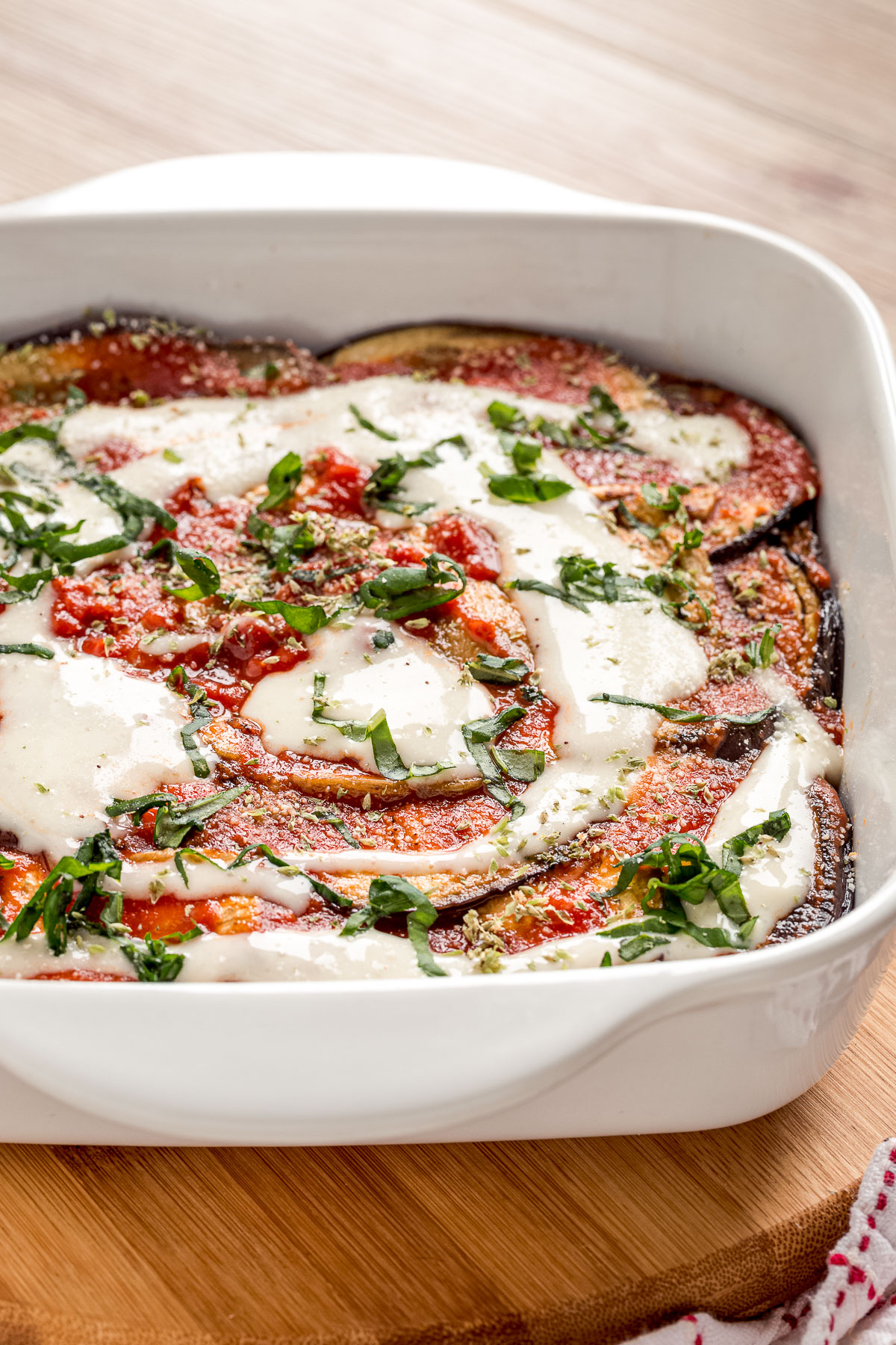 come preparare le MELANZANE alla PARMIGIANA VEGAN LIGHT al FORNO How to make Italian Vegan EGGPLANT PARMESAN with homemade vegan mozzarella cheese