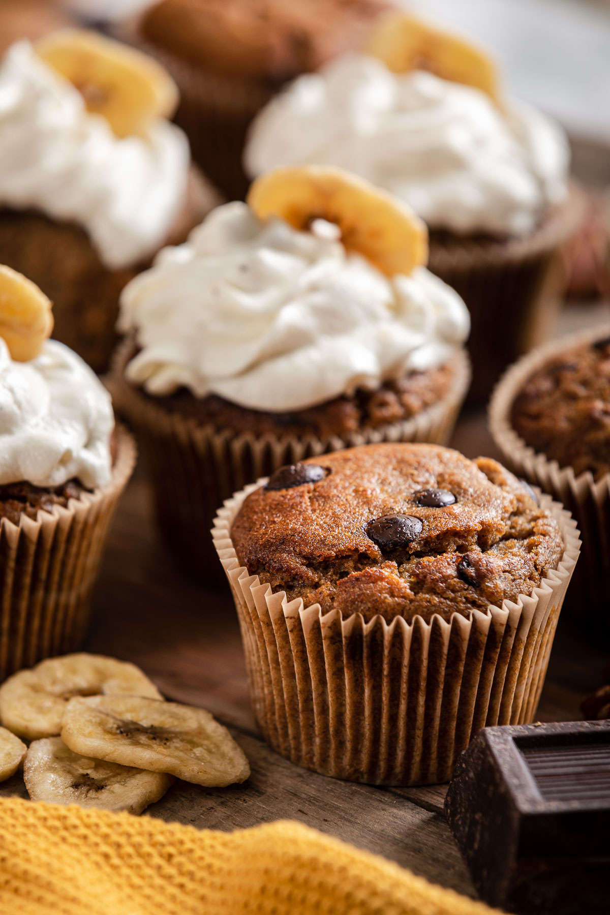 ricetta CUPCAKES VEGAN alla BANANA senza glutine con cioccolato chocolate chip gluten-free VEGAN BANANA CUPCAKES recipe