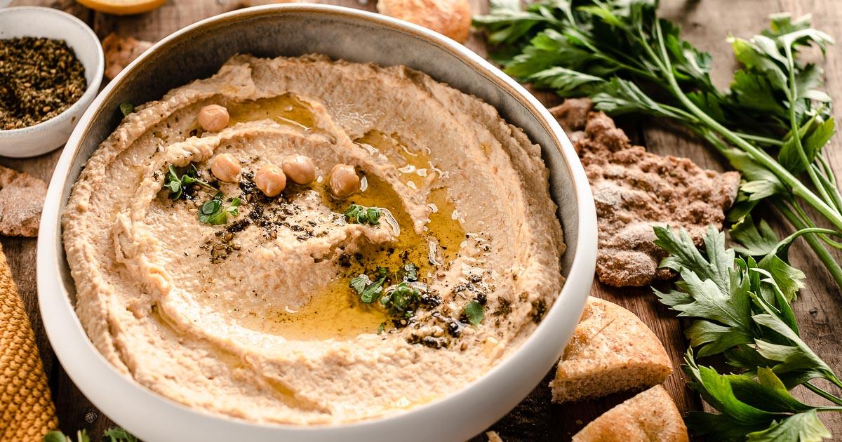 Hummus Ricetta Semplice Senza Tahina.Hummus Di Ceci Ricetta Originale The Best Hummus Recipe