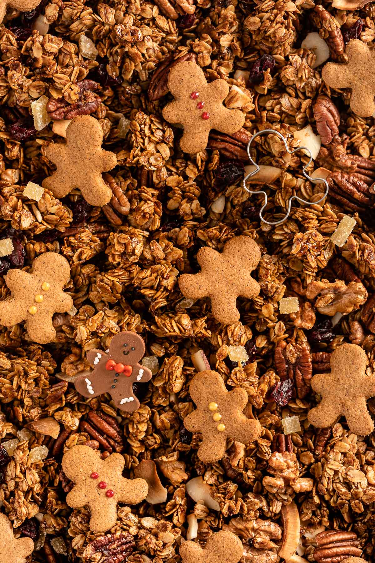 Ricetta granola pan di zenzero idea regalo di Natale vegan Gingerbread Granola Crispy perfectly sweet and spiced perfect for holidays guests #glutenfree