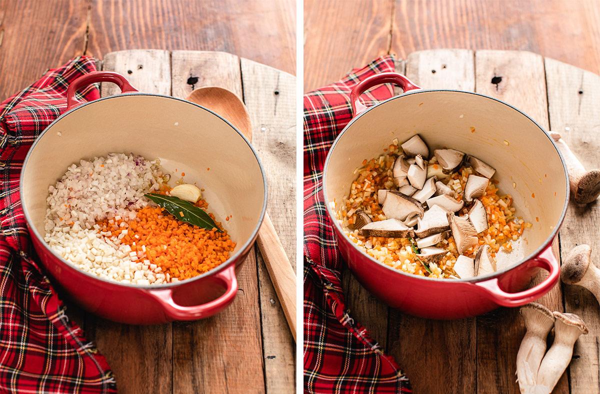 come fare la Shepherd's Pie di lenticchie con ragù di lenticchie funghi e purè di patate How to make Vegan Lentil Shepherd's Pie healthy cottage pie for Thanksgiving 1