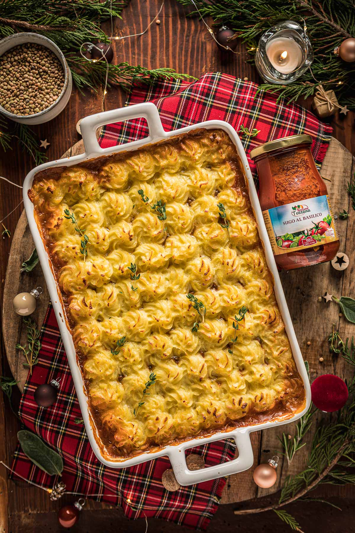 come fare la Shepherd's Pie di lenticchie con ragù di lenticchie funghi e purè di patate How to make Vegan Lentil Shepherd's Pie healthy cottage pie for Thanksgiving