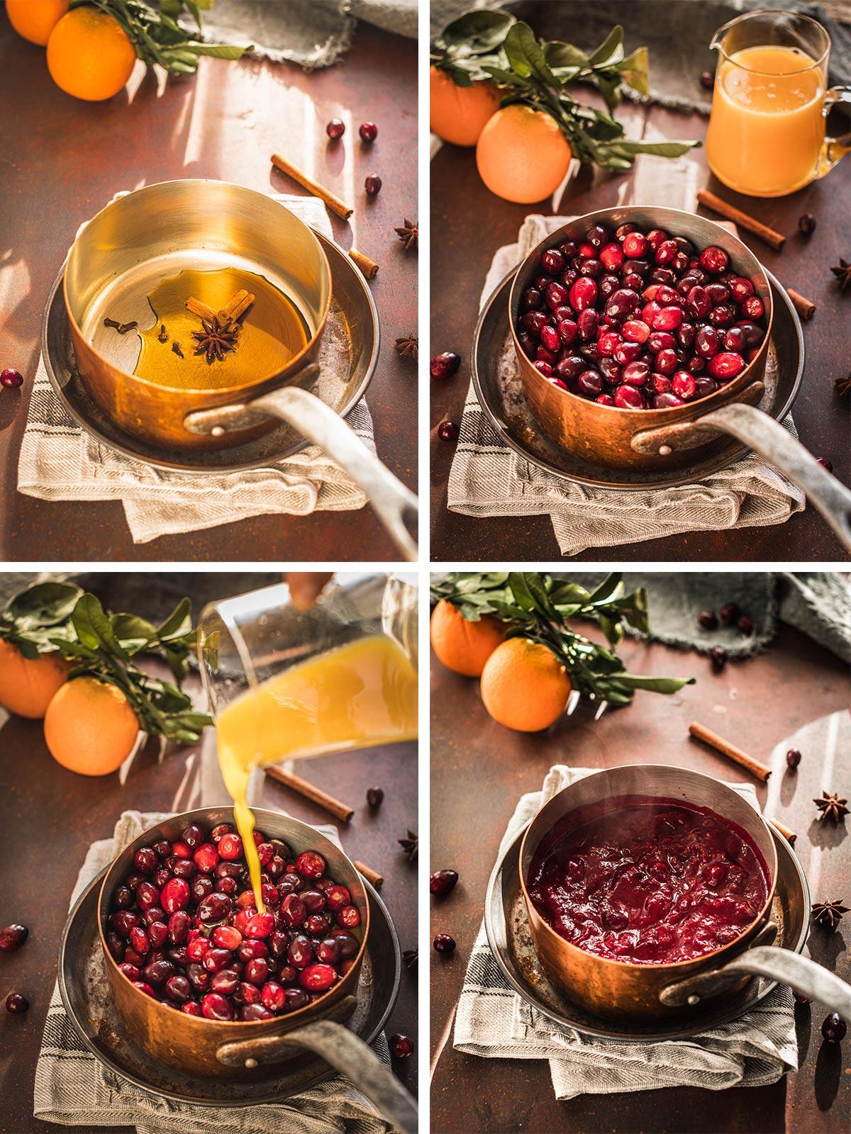 come fare la salsa di mirtilli rossi senza zucchero con sciroppo acero ricetta Natale how to make easy Maple Cranberry Sauce recipe Thanksgiving Christmas