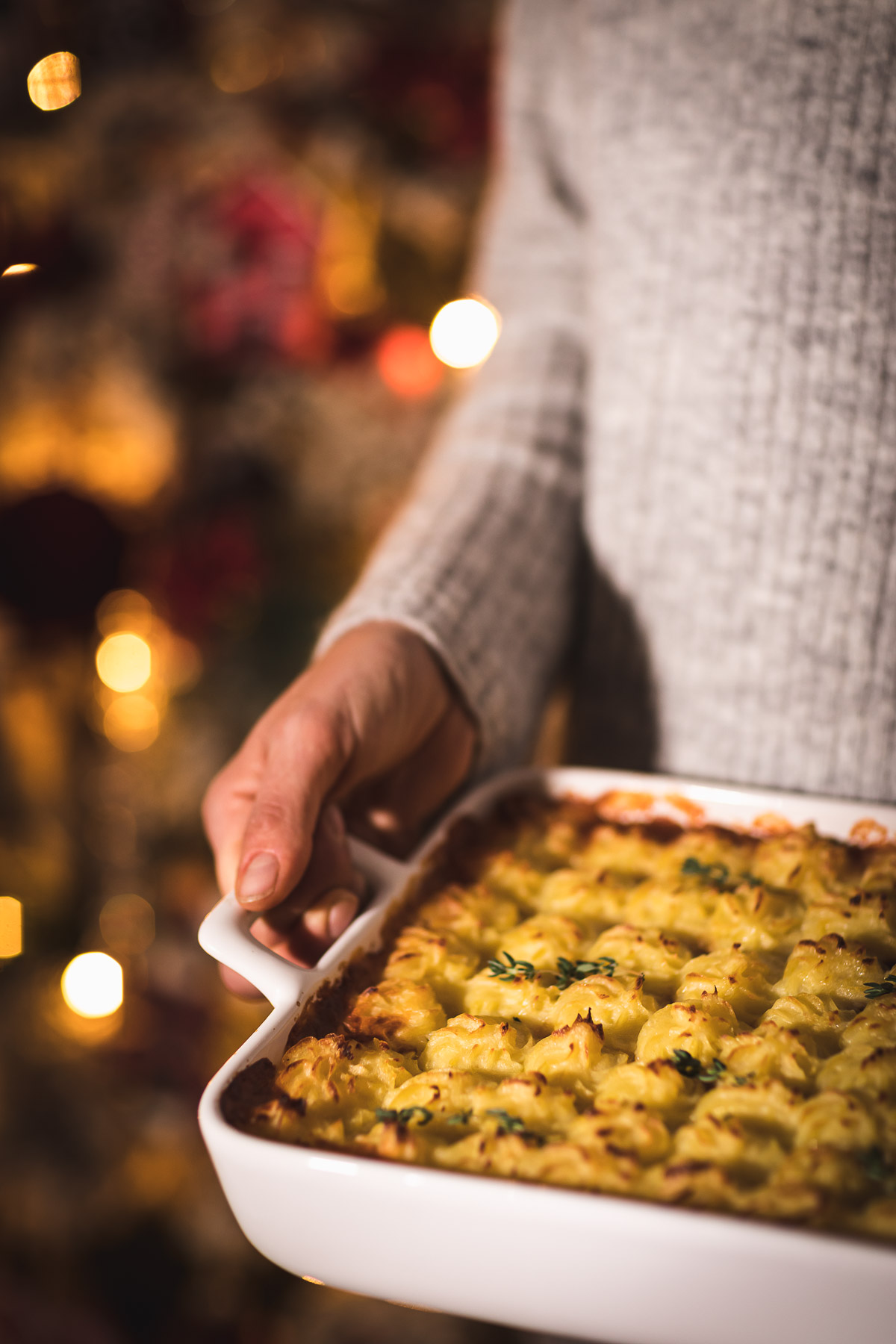 healthy Vegan Lentil Shepherd's Pie recipe cottage pie for Thanksgiving ricetta di Natale Vegan Shepherd's Pie di lenticchie con ragù di lenticchie funghi