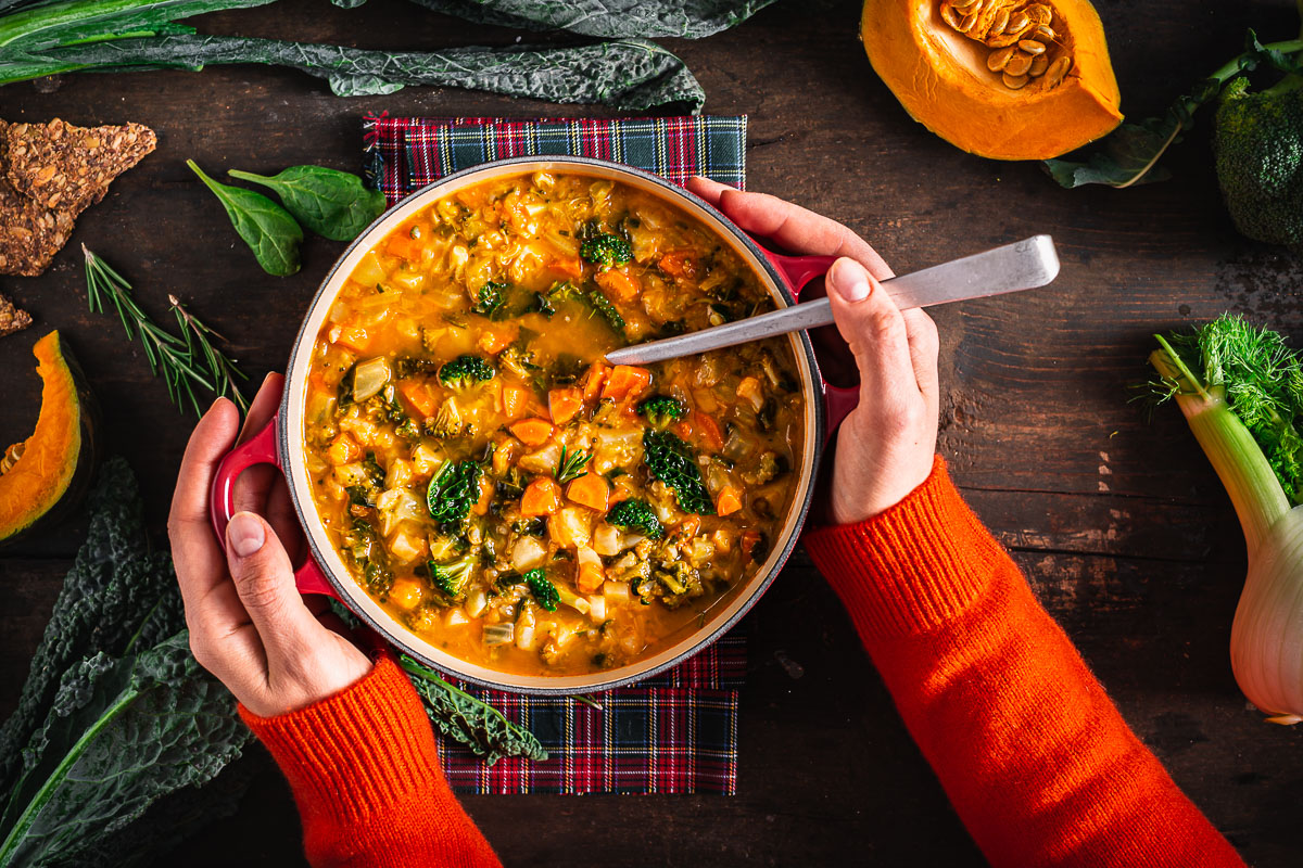 minestrone di verdure autunnale hearty fall minestrone soup zuppa di verdure autumn soup