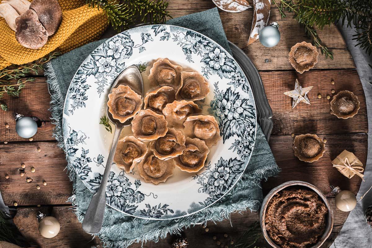 Ricetta Ravioli vegan alle lenticchie e funghi fatti in casa pasta fresca senza uova healthy vegan ravioli recipe vegan fresh pasta