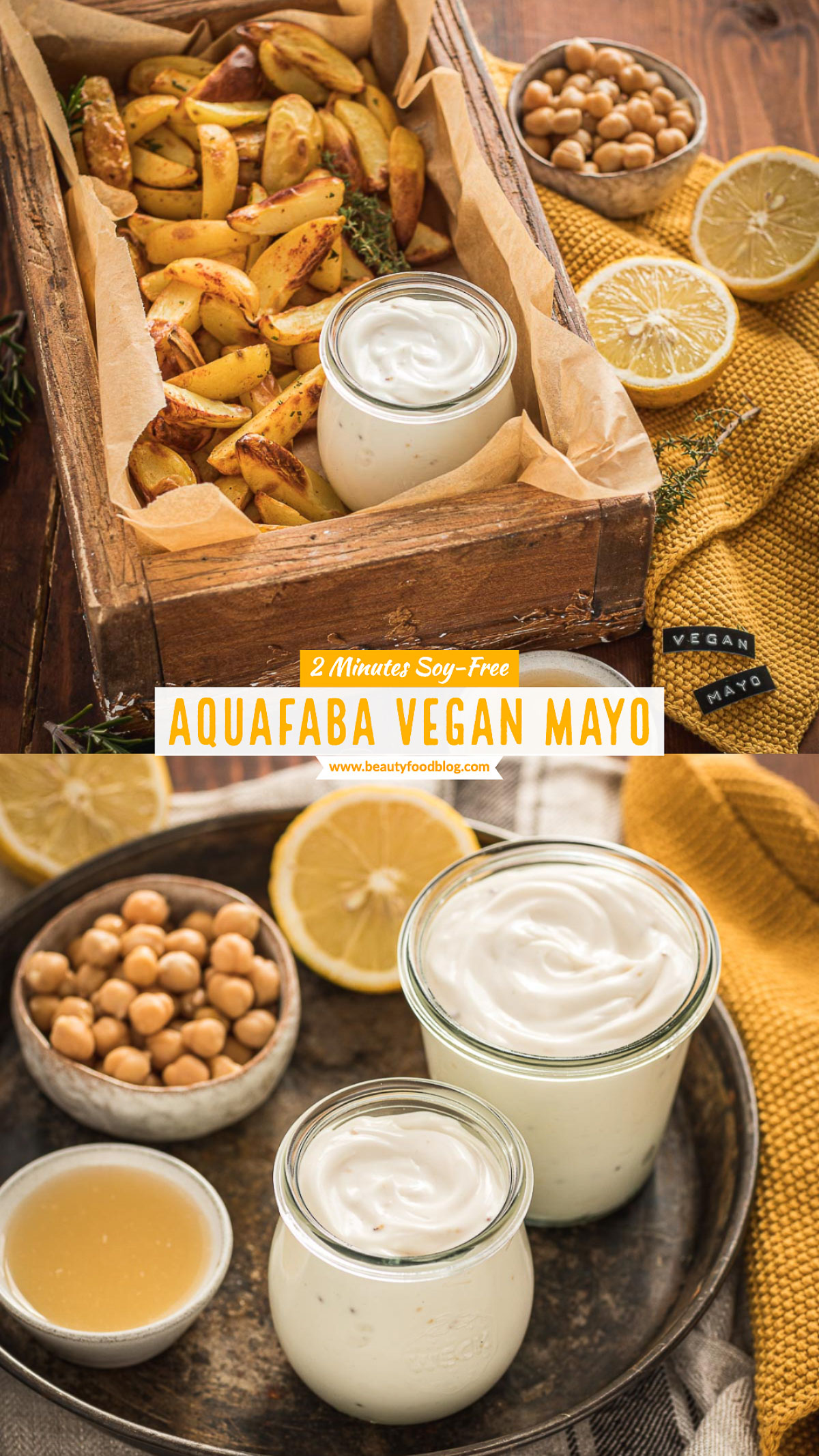 maionese vegan senza uova di aquafaba senza soia 2 minuti con patate al forno easy vegan mayonnaise with aquafaba soy-free mayo ready in 2 minutes with baked potatoes